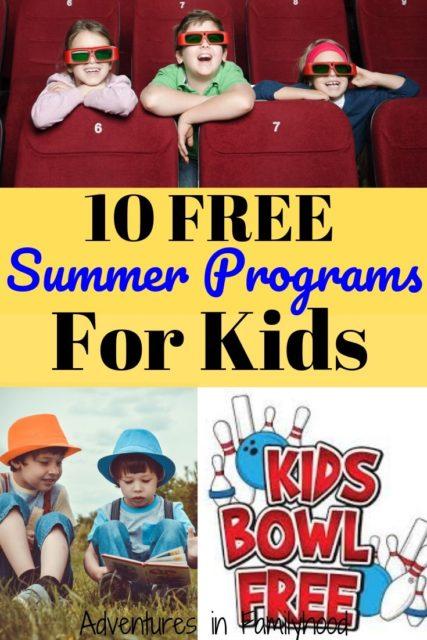summer programs for kids