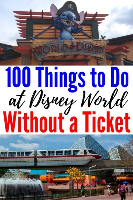 disney world without a ticket