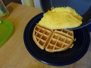 Egg on Waffle