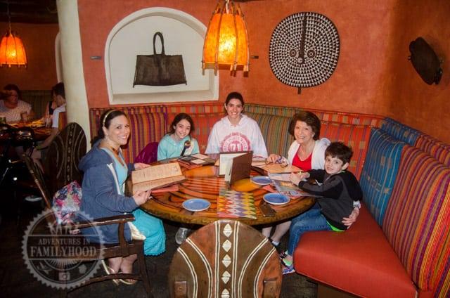 Family dining at Sanaa restaurant at Disney's Animal Kingdom Lodge