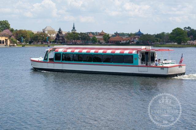 Friendship Boat on Epcot World Showcase Lagoon