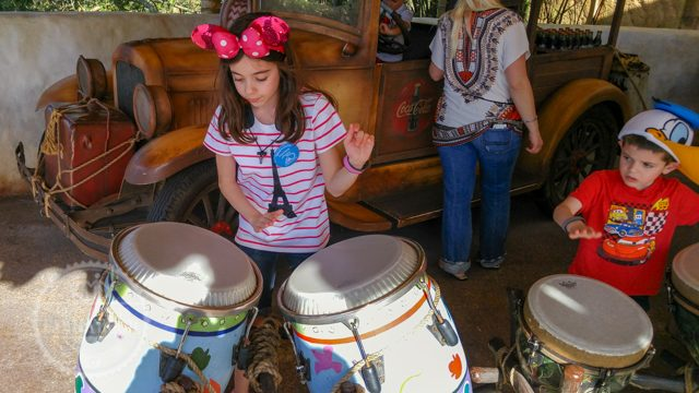 Playing Drums at African Outpost Epcot World Showcase