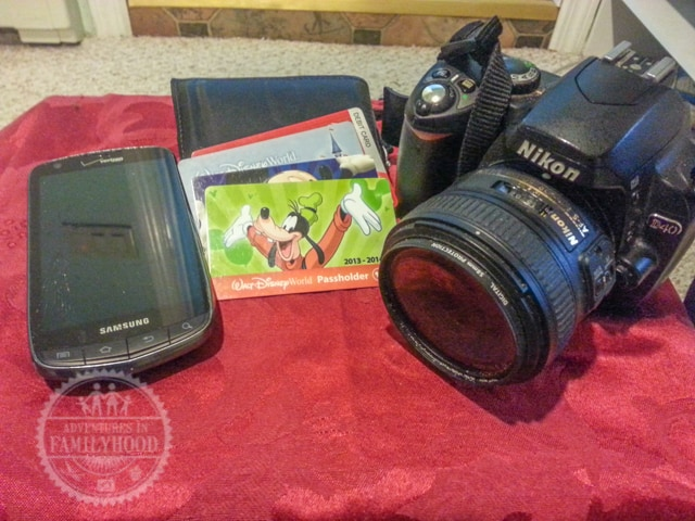 Camera, Phone, ID, Tickets and Gift Cards are Disney Park essentials