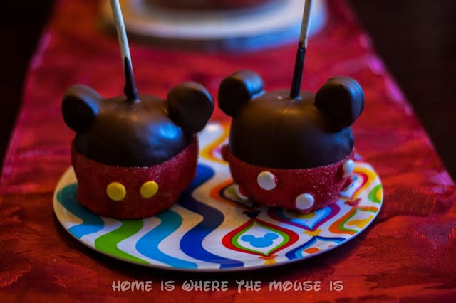 DIY Mickey and Minnie Candy Apples