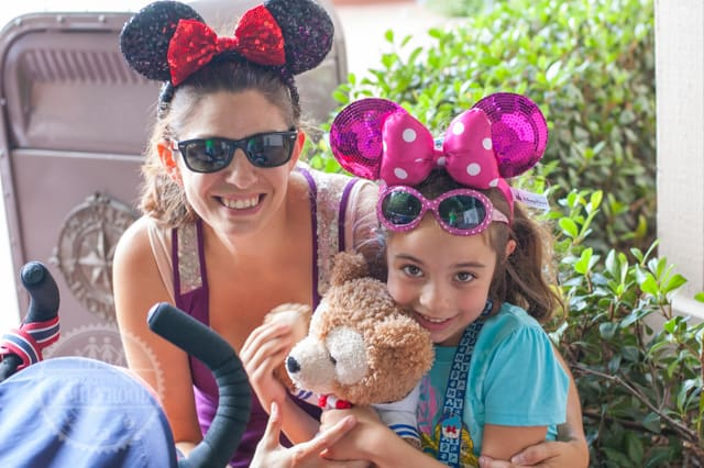 Lisa and Bella sport their Mickey Ears and Duffy