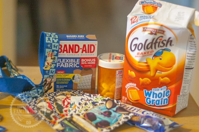 Snacks, First Aid, and Fun items belong in your Disney Park Bag