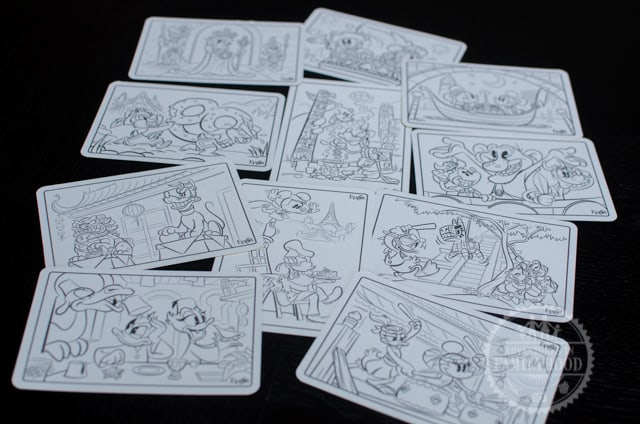 Epcot Kidcot Fun Stop Activity Card Coloring Scenes