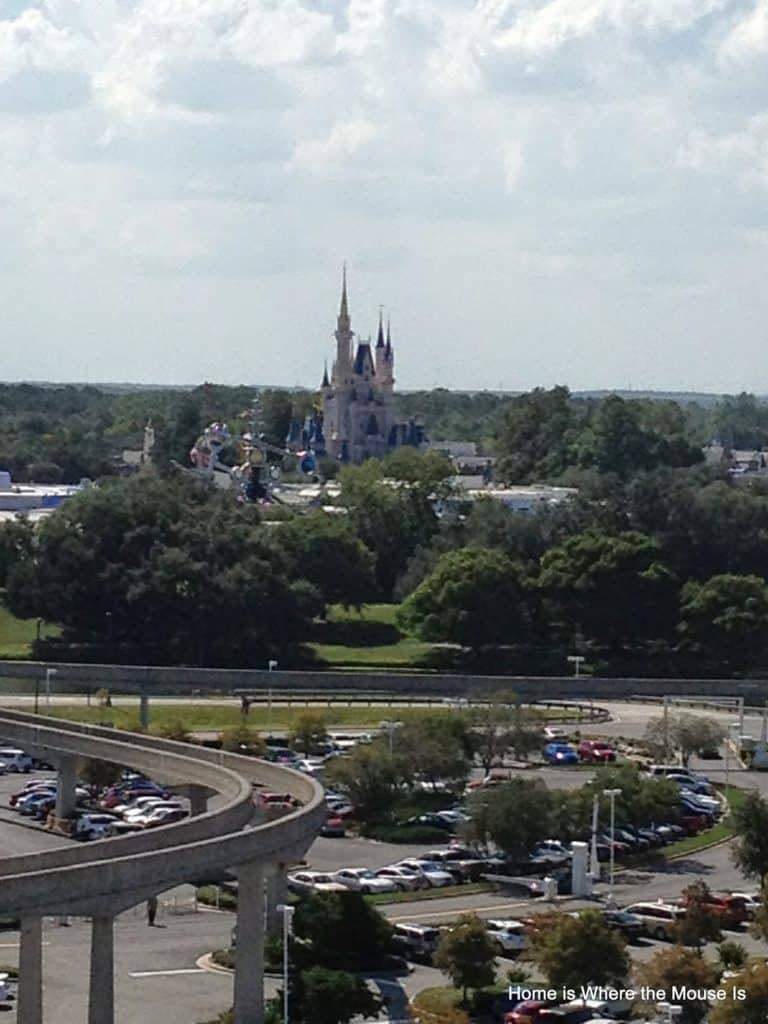 View of Cinderella Castle from our Bay Lake Tower veranda
