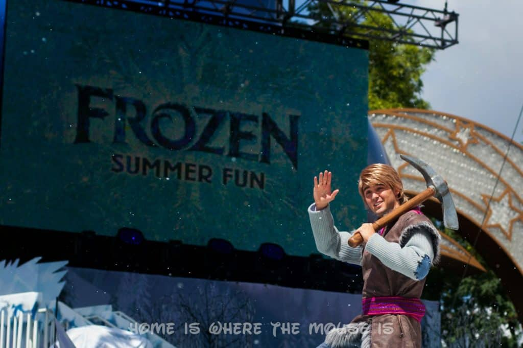Kristoff in Anna and Elsa's Royal Welcome Procession