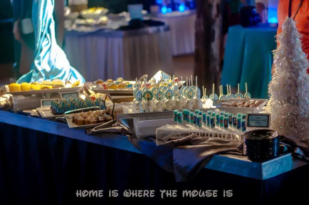 Frozen Fireworks Dessert Party Spread