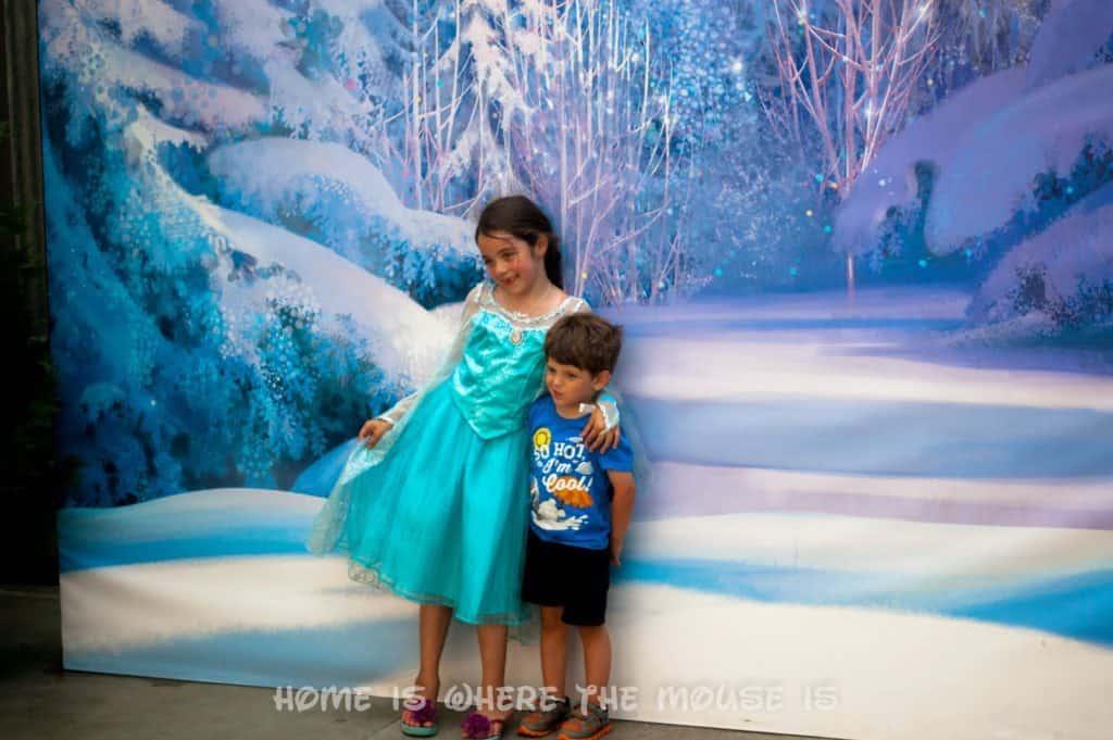 Frozen Summer Fun Live! PhotoPass Magic Shot backdrop