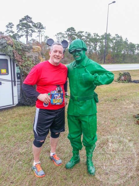 Green Army Man Photo Op Walt Disney World Half Marathon