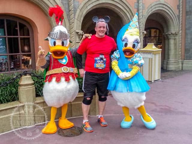 Knight Donald Duck and Princess Daisy Photo Op Magic Kingdom 2014 Walt Disney World Half Marathon