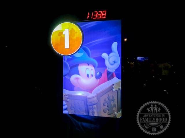 Mile Marker 1 of 2014 Walt Disney World Half Marathon Sorcerer Mickey