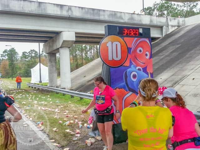 Mile Marker 10 of 2014 Walt Disney World Half Marathon Finding Nemo