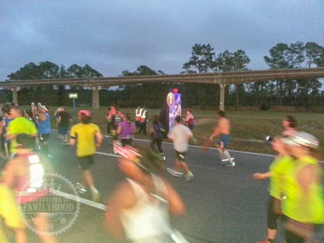 Mile Marker 2 of 2014 Walt Disney World Half Marathon Tangled