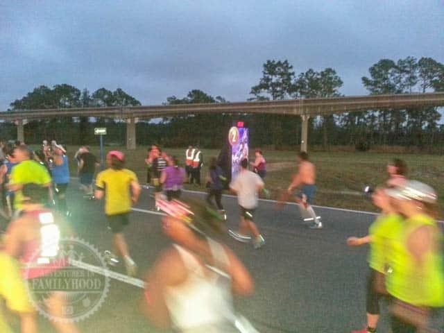 Mile Marker 2 of 2014 Walt Disney World Half Marathon Tangled