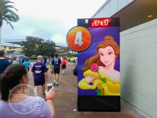 Mile Marker 4 of 2014 Walt Disney World Half Marathon Belle