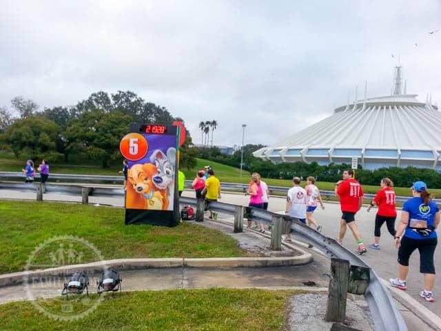 Mile Marker 5 of 2014 Walt Disney World Half Marathon Lady and the Tramp