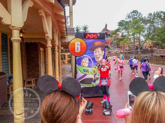 Mile Marker 6 of 2014 Walt Disney World Half Marathon Woody and Buzz