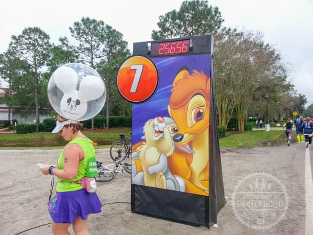 Mile Marker 7 of 2014 runDisney Walt Disney World Half Marathon