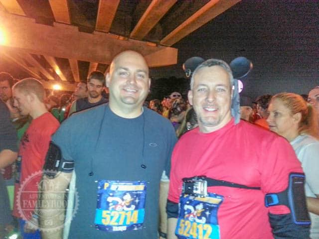 Waiting in Corral before the 2014 Walt Disney World Half Marathon