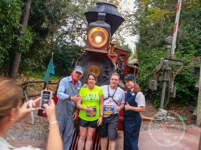 Walt Disney World Railroad Photo Op during 2014 Half Marathon