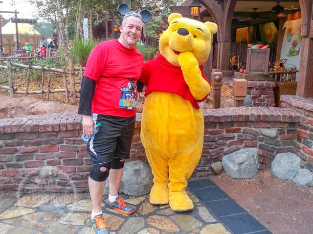 Winnie the Pooh Photo Op Magic Kingdom 2014 Walt Disney World Half Marathon