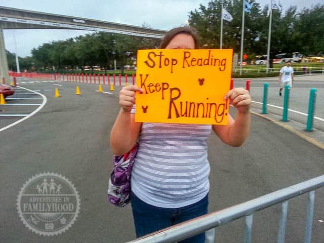 Worst Parade Ever Sign Back Side Keep Running