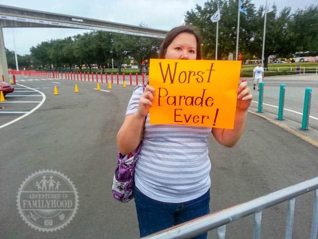 Worst Parade Ever Sign