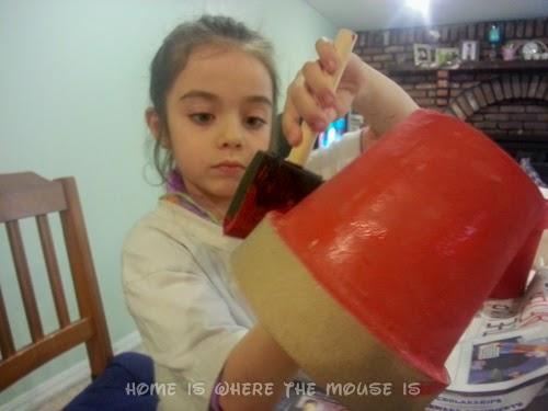 Bella Paints a Flower Pot