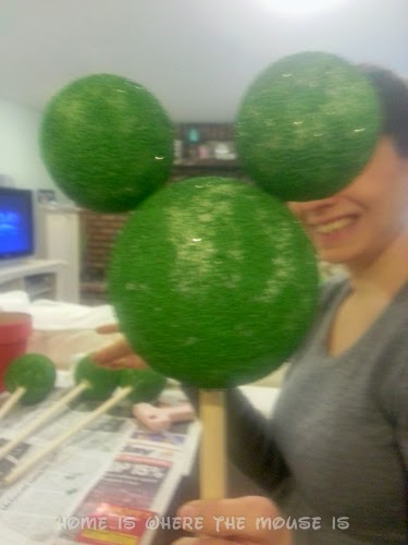 Mickey Head out of Styrofoam Balls