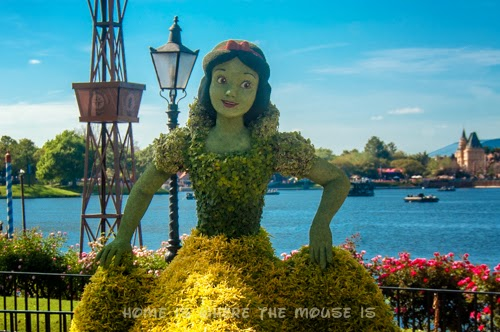 Epcot Snow White Topiary