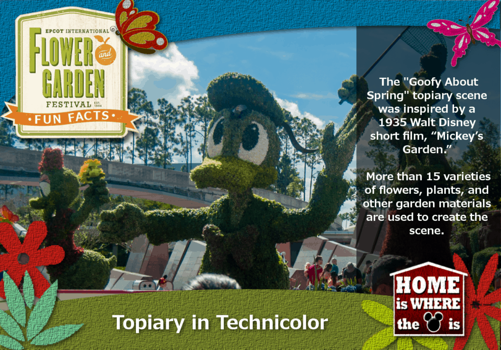 Epcot Flower & Garden Festival Fun Fact Goofy in Spring