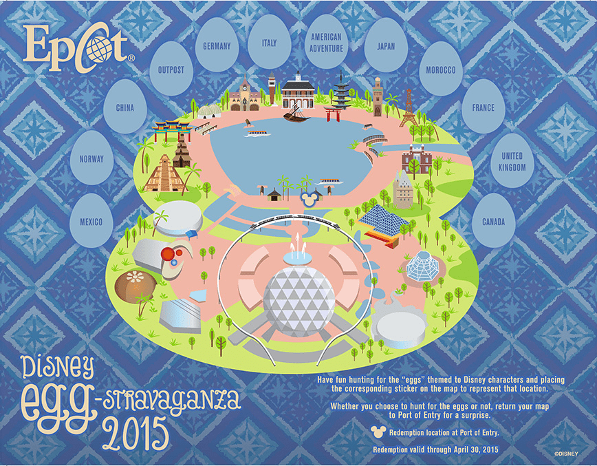 Epcot Easter Egg Hunt Map 2015