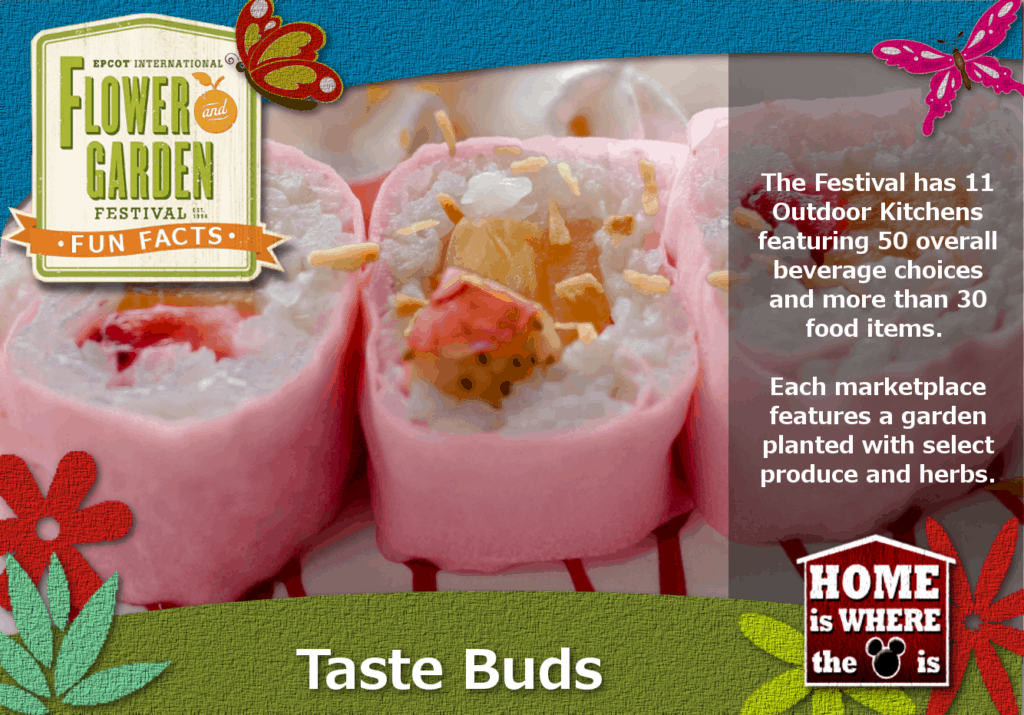 Epcot Flower & Garden Festival Fun Fact Food