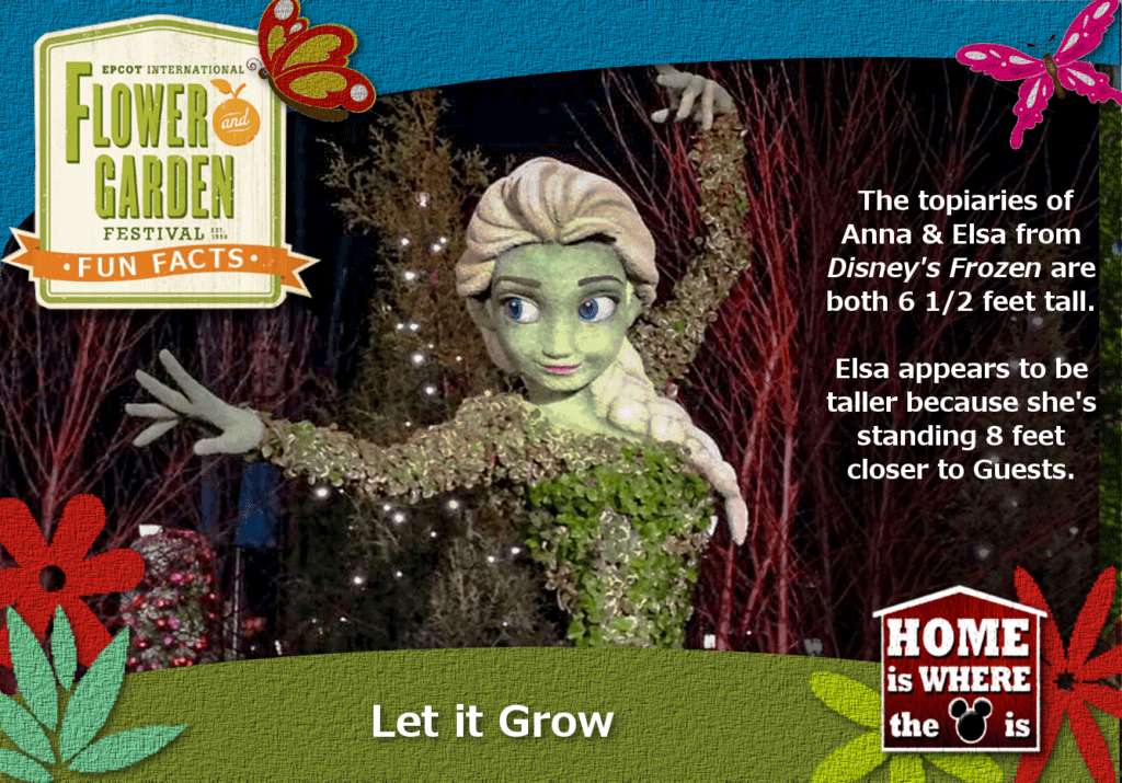 Epcot Flower & Garden Festival Fun Fact Frozen Elsa
