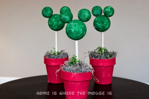 Mickey Mouse Topiaries Finished Product