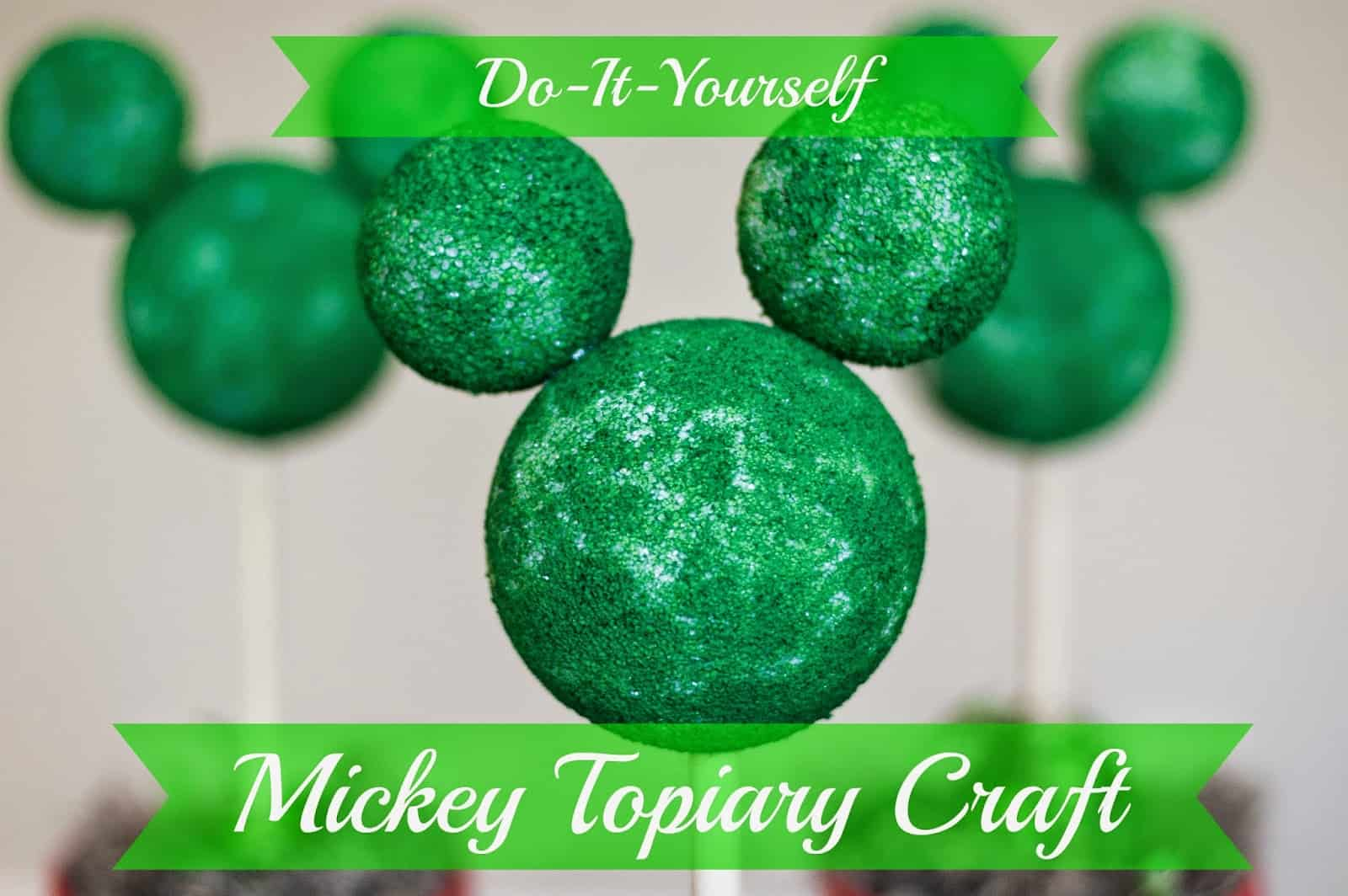Diy Mickey Springtime Topiary Adventures In Familyhood