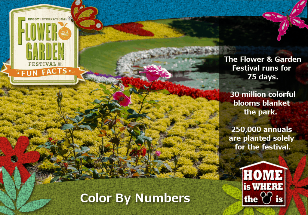 Epcot Flower & Garden Festival Fun Fact Blooms