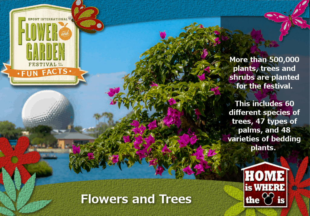 Epcot Flower & Garden Festival Fun Fact Trees