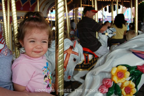 Bella on the carousel