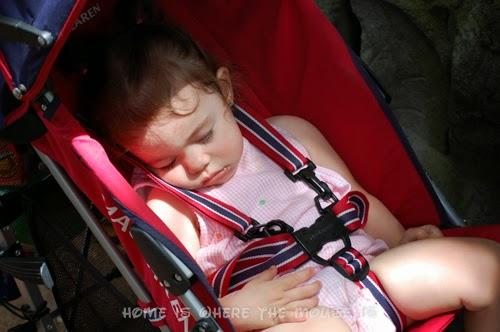 Bella naps in the stroller