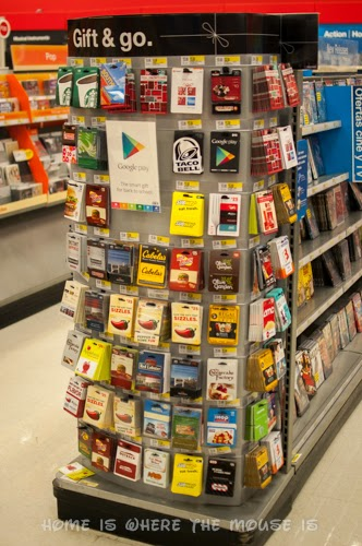 Target Gift Card Endcap in Entertainment Department
