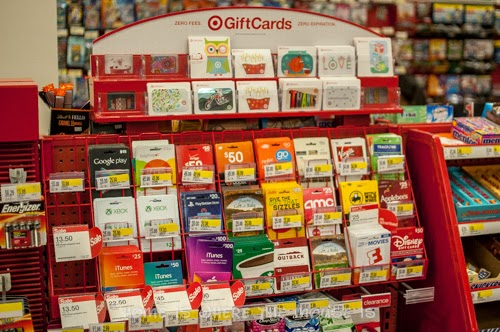Gift Cards for sale right at the checkout in Target