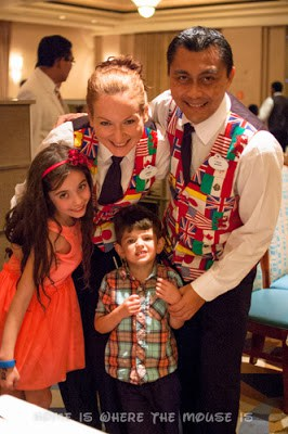 Bella and Jackson say goodbye to our servers aboard the Disney Magic