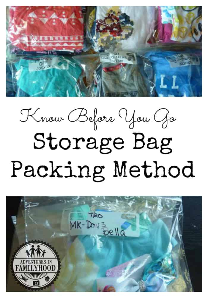 Storage bag packing method