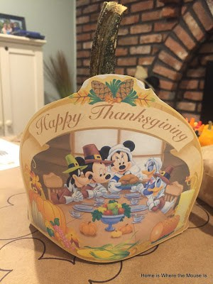 Disney Thanksgiving Kid Table