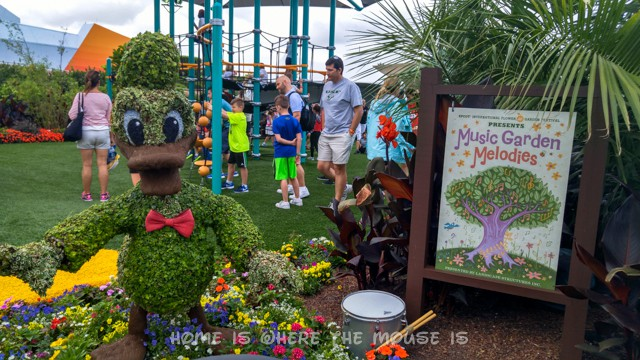Kids can play and make music at the Epcot International Flower & Garden Festival
