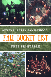 There's so much to do with your kids in the fall. Here's a family bucket list full of fun family friendly activities | Fall Family Bucket List Printable